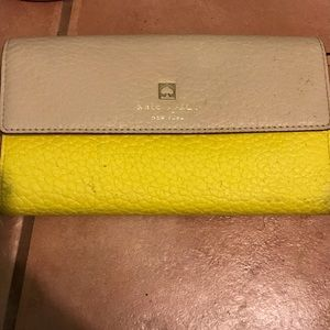 Kate Spade Tan and Yellow Wallet